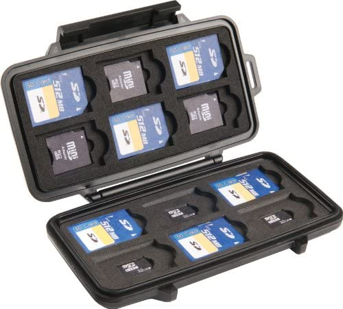 The Best Travel Photography Gear: What's In My Camera Bag | Pelican 0915 SD Memory Card Case (Black)